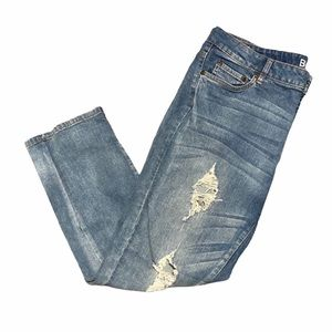 Bluenotes mid rise cropped skinny jeans med. wash